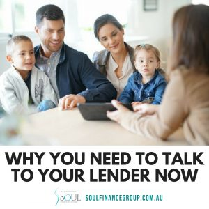family negotiating a better deal with the lender for their home loan